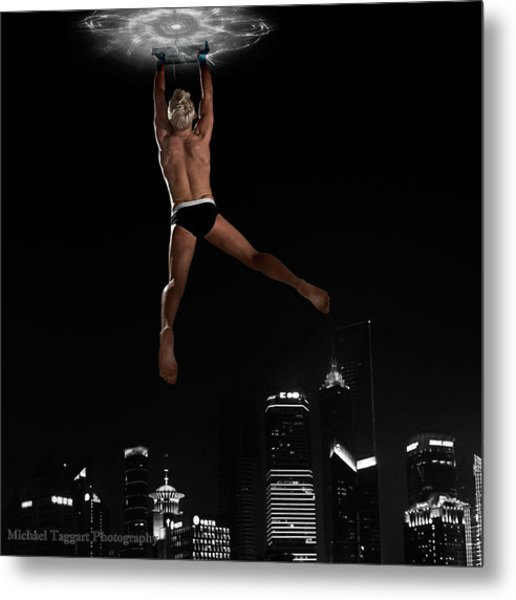Metal Print featuring the photograph Flying Avenger by Michael Taggart