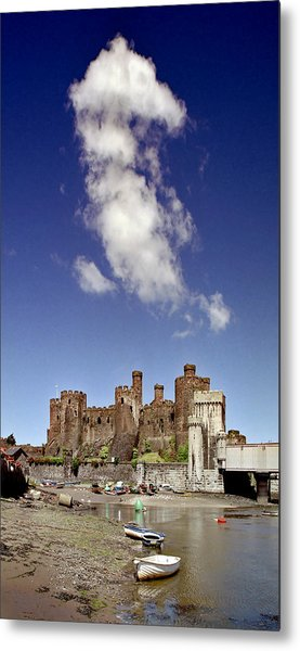 Flying Dragon Conwy Castle Metal Print