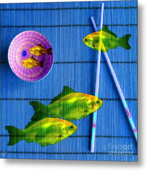 Flying Fish And The Pink Moon Metal Print