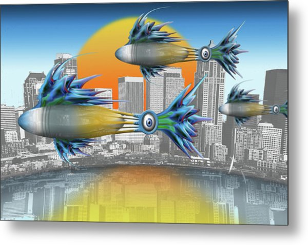 Flying Fisque  Metal Print