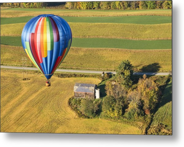Flying Hight Over New York State Metal Print