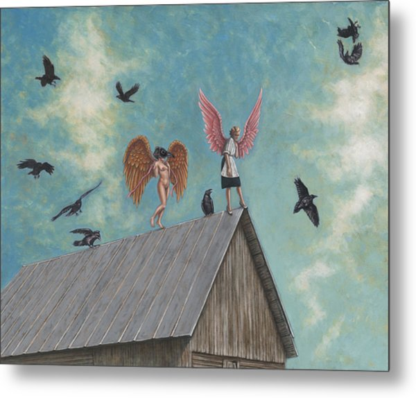 Flying Lessons Metal Print