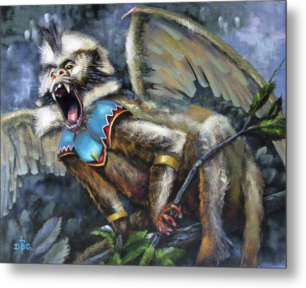 Flying Monkey Metal Print