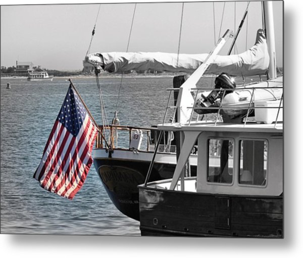 Flying Our Stars And Stripes Metal Print