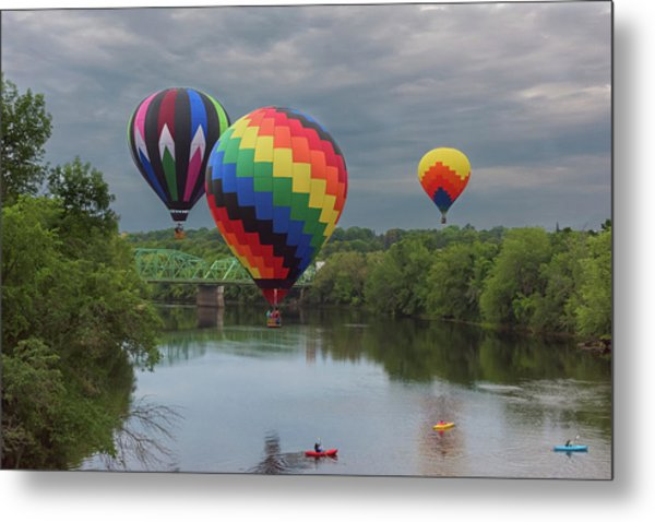 Flying Over The Androscoggin Metal Print