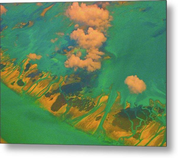 Flying Over The Keys, Florida Metal Print