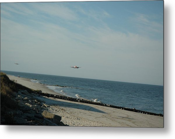 Flying The Beach Metal Print by See Me Beautiful Photography