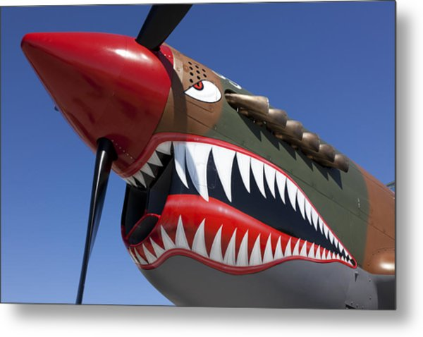 Flying Tiger Plane Metal Print