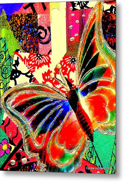 Flying Toward The Light Metal Print by Cynda LuClaire