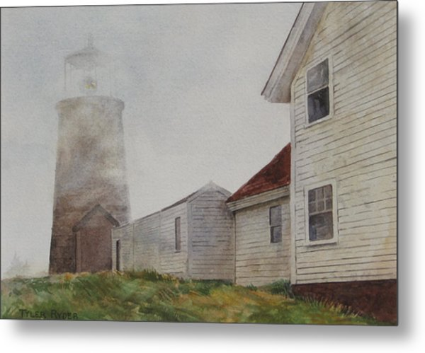 Fog On Monhegan Metal Print