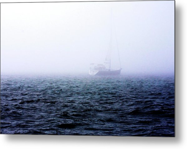 Fog On The Bay 1 Metal Print by Alan Hausenflock
