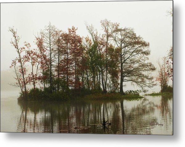 Fog On The River Metal Print by Bill Perry