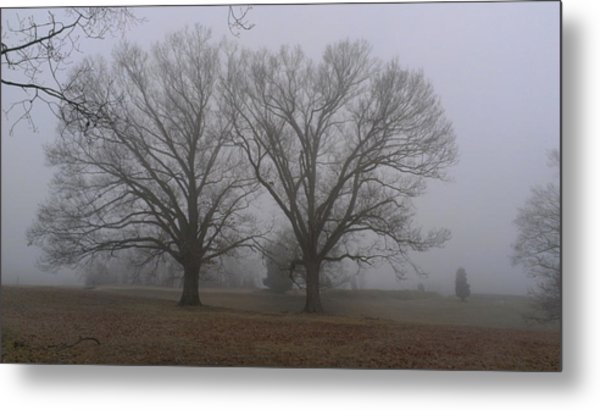 Fog On The Yorktown Battlefield Metal Print
