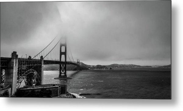 Fog Over The Golden Gate Bridge Metal Print