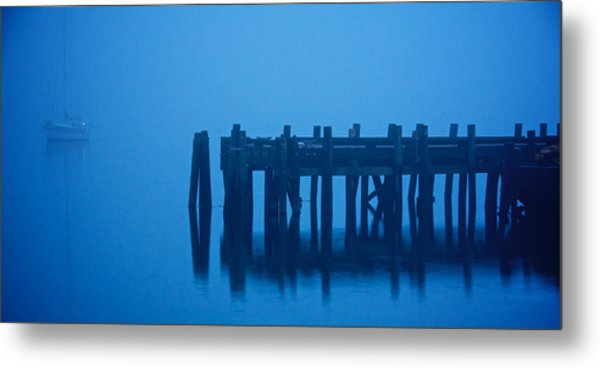 Shrouded In Fog, Morro Bay Metal Print
