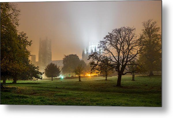 Foggy Cathedral Metal Print
