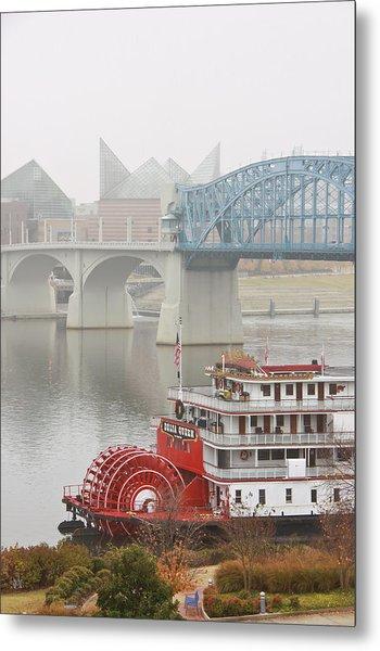 Foggy Chattanooga Metal Print