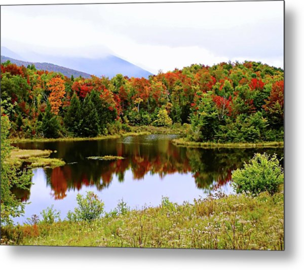 Foggy Day In Vermont Metal Print