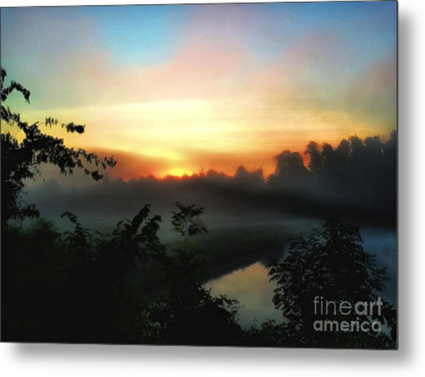 Foggy Edges Sunrise Metal Print