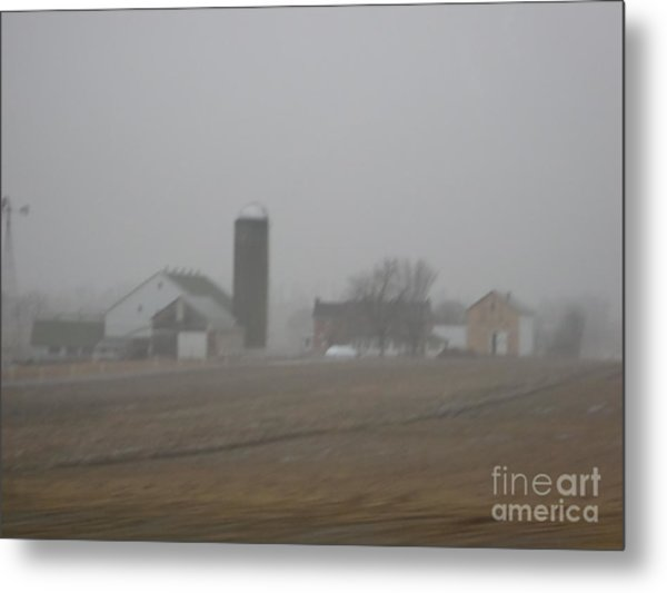 Foggy Evening Metal Print