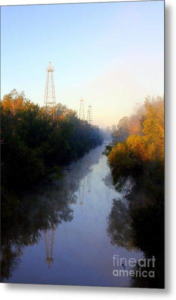 Foggy Fall Morning On The Sabine River Metal Print