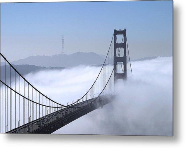 Foggy Golden Gate Bridge Metal Print