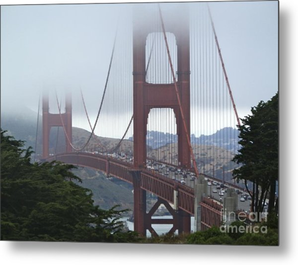 Foggy Golden Gate Metal Print