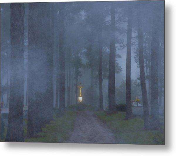 Foggy Hallowed Ground Metal Print