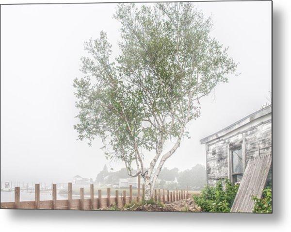 Foggy Morning At Camp Ellis Metal Print