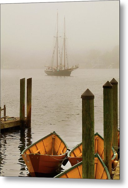 Foggy Morning In Gloucester Ma Metal Print