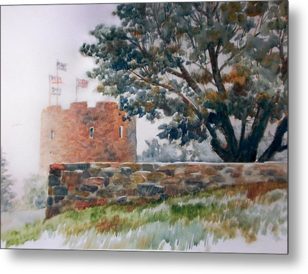 Foggy Morning In Maine Metal Print by Don Getz