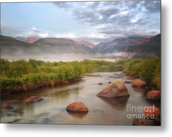 Foggy Morning In Moraine Park Metal Print