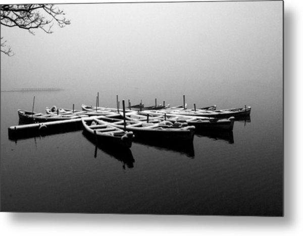 Foggy Morning On West Lake Metal Print