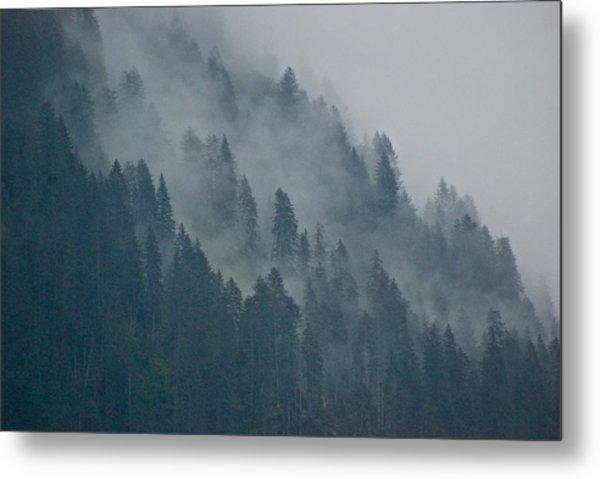 Foggy Mountain Ridge Metal Print