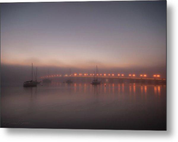 Foggy Nights Of Lights Metal Print