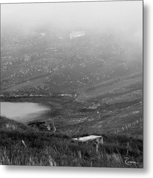 Foggy Scottish Morning Metal Print