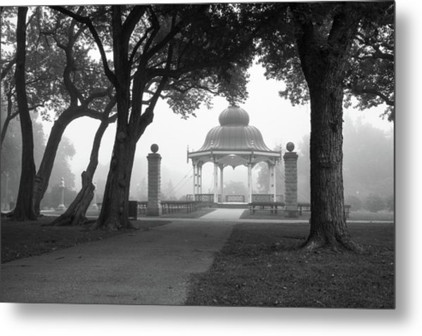Foggy Tower Grove Metal Print