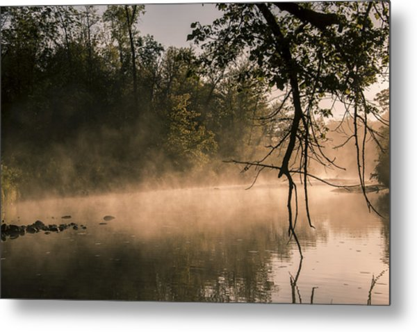Foggy Water Metal Print