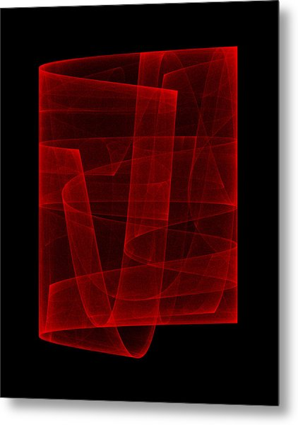 Folds Over I Metal Print