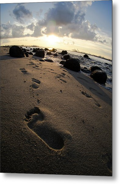 Follow In His Steps Metal Print