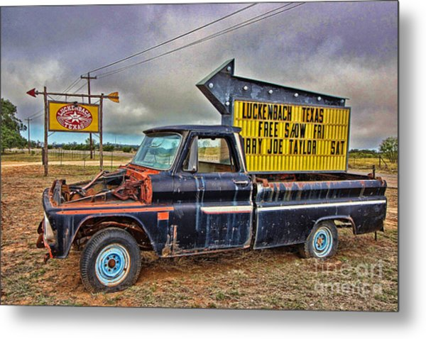 Follow Me To Luckenbach Metal Print
