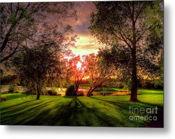 Follow The Light Metal Print by Kim Shatwell-Irishphotographer