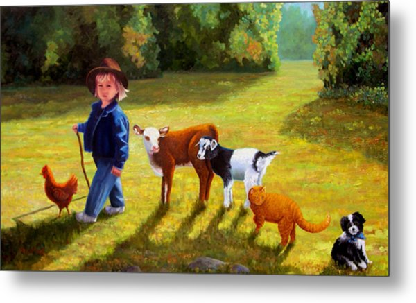 Following The Leader Metal Print by Valerie Aune