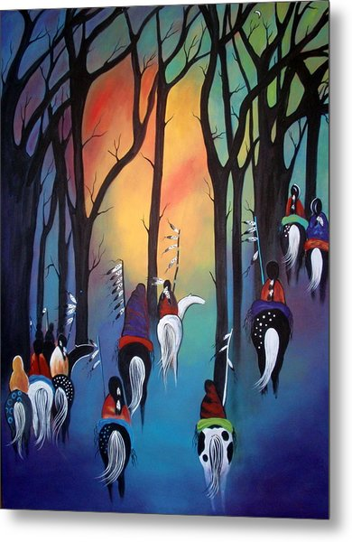 Following The Trail Of The Ancestors Metal Print