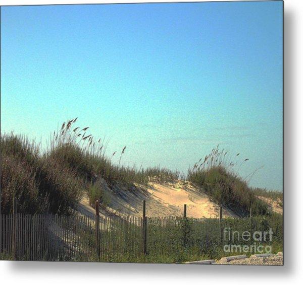 Folly Beach Sc Dunes Metal Print