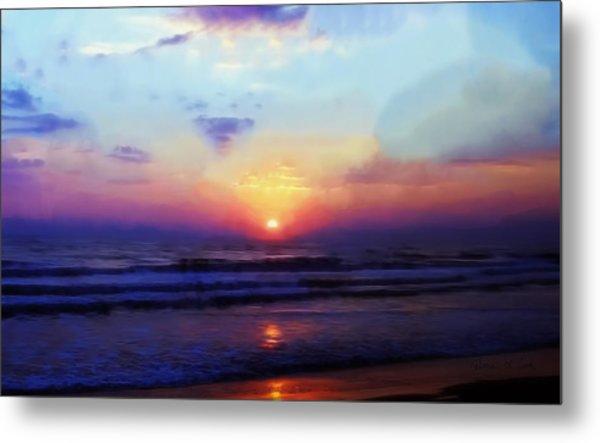 Folly Beach South Carolina Sunrise Metal Print