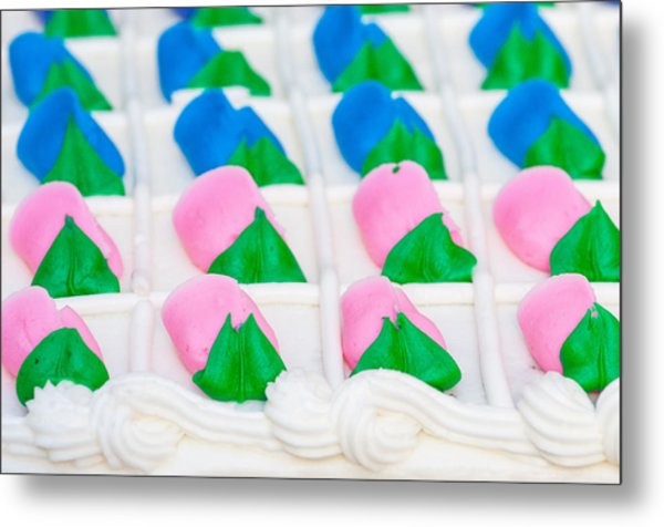 Fondant Close-up Metal Print