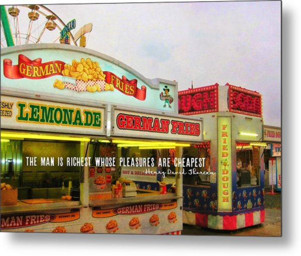 Food And Fun Quote Metal Print by JAMART Photography