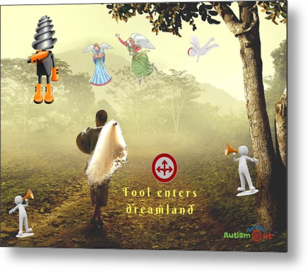 Fool Enters Dreamland Metal Print