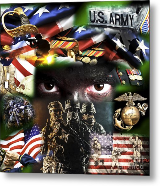 Foot Soldiers Metal Print by John Rizzuto